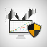Statistics banking safe shield protection Stock Images