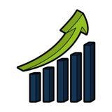 Statistics bars with arrow Stock Photos