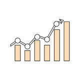 Statistics bars graphic. Icon vector illustration graphic design Stock Image
