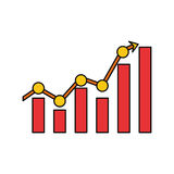 Statistics bars graphic. Icon vector illustration graphic design Royalty Free Stock Images