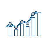 Statistics bars graphic. Icon vector illustration graphic design Royalty Free Stock Photo