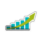 Statistics bars growing. Icon  illustration graphic design Royalty Free Stock Photography