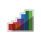 Statistics bars growing. Icon  illustration graphic design Royalty Free Stock Images