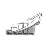 Statistics bars growing. Icon  illustration graphic design Stock Images