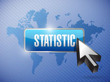 Statistics button illustration design Stock Photo