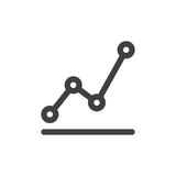 Statistics chart line simple icon Stock Photography