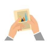 Statistics chart report Stock Photo