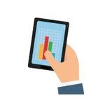 Statistics chart report Royalty Free Stock Photo