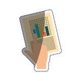 Statistics chart report Stock Photos