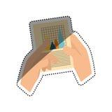 Statistics chart report Stock Photography