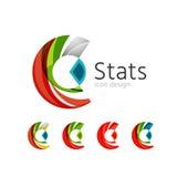 Statistics company logo set. Vector illustration Stock Photography