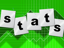 Statistics Data Indicates Stats Bytes And Reports Stock Photo