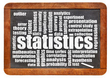 Statistics and data word cloud Royalty Free Stock Photo