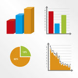 Statistics design. Over white background vector illustration Stock Photography