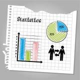 Statistics design. Statiistics deisgn over leaf book background vector illustration Royalty Free Stock Photography