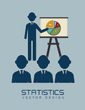 Statistics. Design over blue background vector illustration Stock Images