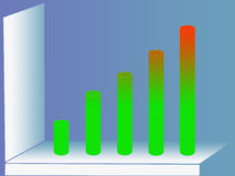 Statistics diagram. A graph that can be used to illustrate statistics growth Stock Image