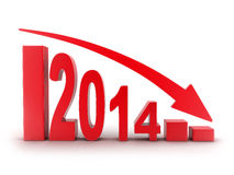 2014 statistics down Stock Images