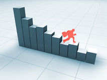 Statistics going down. Bad business statistics going down Stock Photo