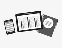 Statistics graph. Design, vector illustration eps10 graphic Stock Images