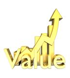 Statistics graphic in gold Royalty Free Stock Image