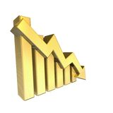 Statistics graphic in gold Stock Image