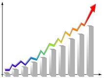 Statistics graphics royalty free stock photography