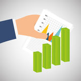 Statistics on hand, vector design Royalty Free Stock Image
