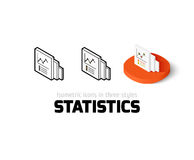 Statistics icon in different style. Statistics icon, vector symbol in flat, outline and isometric style Stock Images