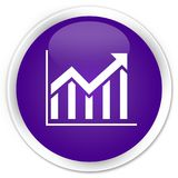 Statistics icon premium purple round button Stock Photography