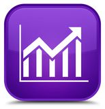 Statistics icon special purple square button Royalty Free Stock Photography