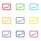 Statistics icon for web and mobile Stock Photo