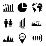 Statistics icons. Over white background vector illustration Royalty Free Stock Photos