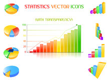 Statistics icons set Stock Photography