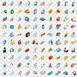 100 statistics icons set, isometric 3d style. 100 statistics icons set in isometric 3d style for any design vector illustration Vector Illustration
