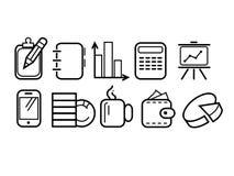 Statistics icons set Stock Image