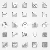 Statistics icons set Stock Photography