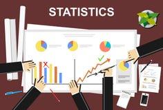 Statistics illustration. Flat design illustration concepts for statistics, meeting, business, finance, management, career Stock Photo