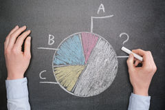 Statistics and Information - Pie Chart Stock Photo