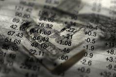 Statistics for Investing of Money. For stocks or bonds Stock Image