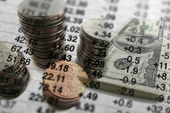 Statistics for Investing of Money. For stocks or bonds Stock Photos