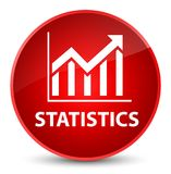 Statistics elegant red round button Royalty Free Stock Photography
