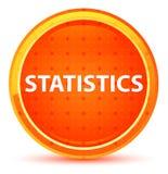 Statistics Natural Orange Round Button vector illustration