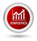Statistics prime red round button Royalty Free Stock Photo