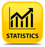 Statistics special yellow square button Royalty Free Stock Image