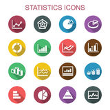 Statistics long shadow icons Royalty Free Stock Image