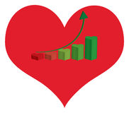 Statistics love Royalty Free Stock Images