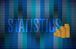 Statistics and money illustration Royalty Free Stock Images