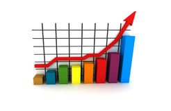 Statistics - multicolor diagram Royalty Free Stock Images