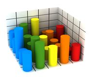 Statistics - multicolor diagram Royalty Free Stock Photo